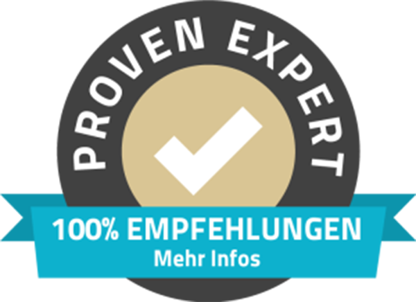 Proven Expert - 100% Empfehlungen